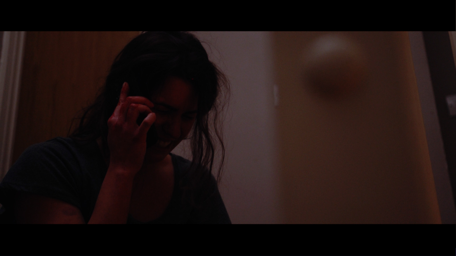 Still from Fresh Media Productions short film Trapped about domestic violence starring Gaia Poli