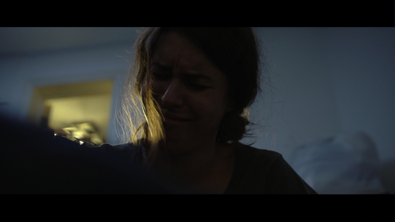 Still from Fresh Media Productions short film Trapped about domestic violence of actor Gaia Poli