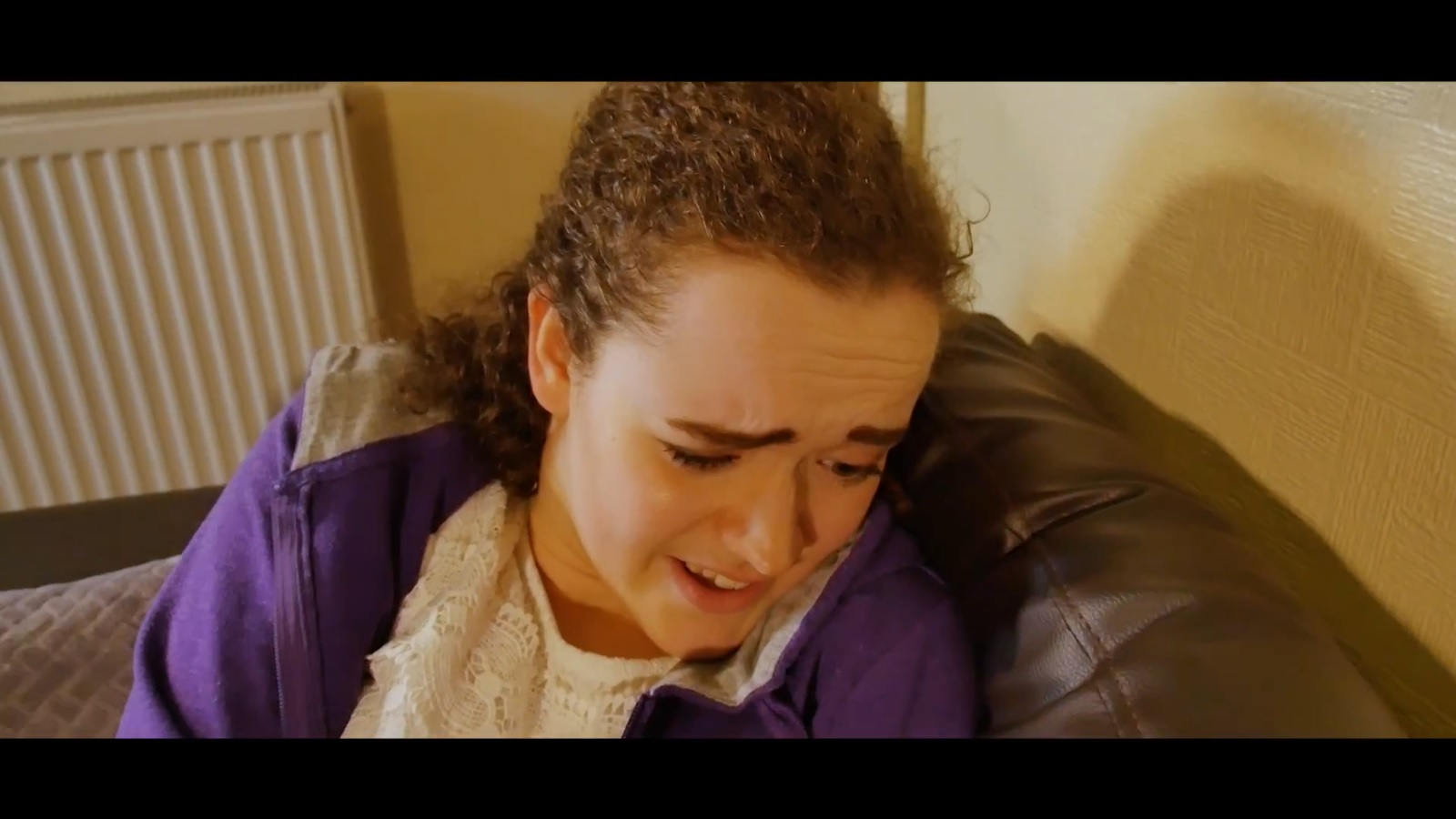 Still from student short film WCS of actor Flora Barber