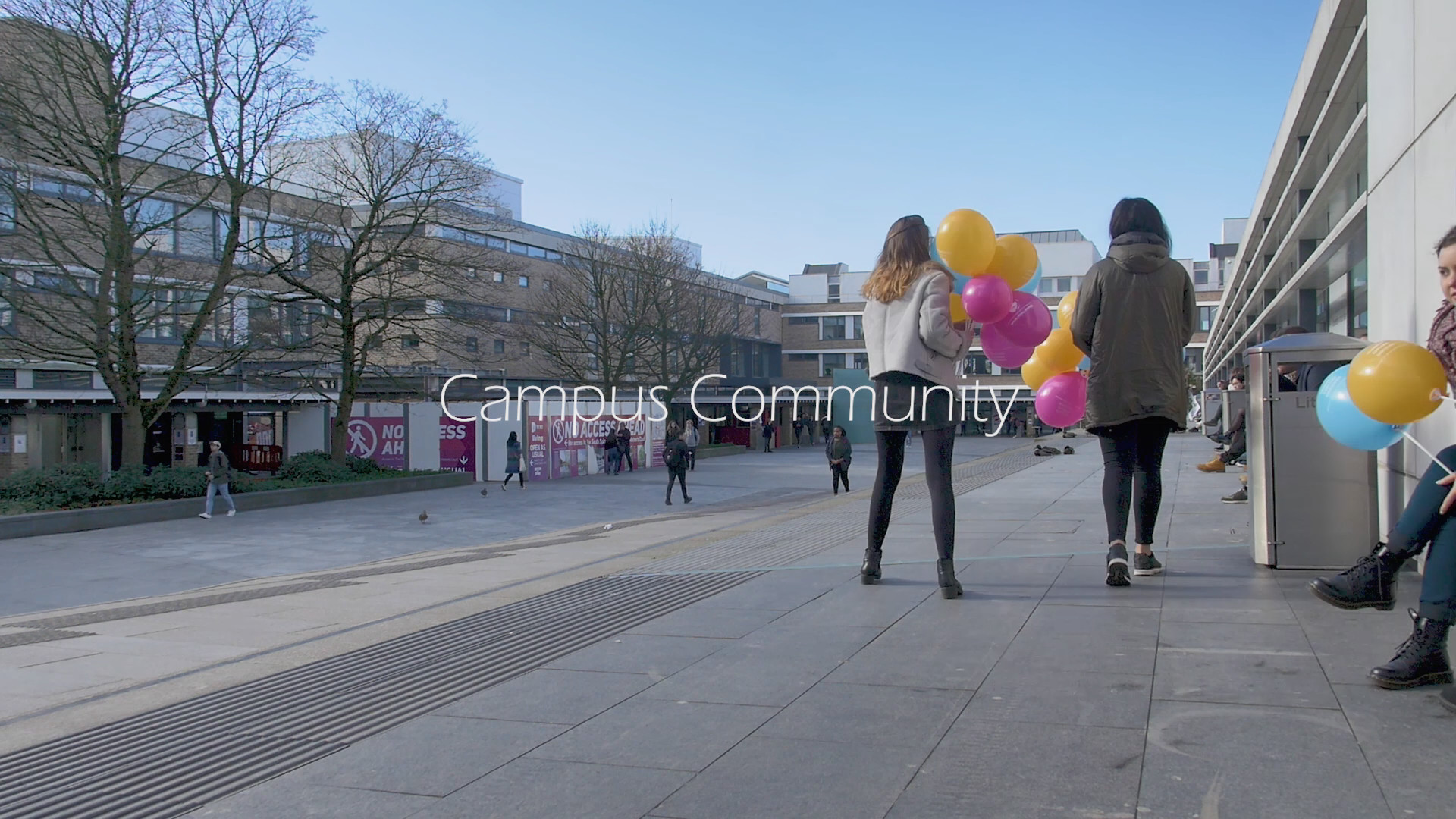 Still from LUFP narrative commercial Campus Community of Lancaster University Alexander Square