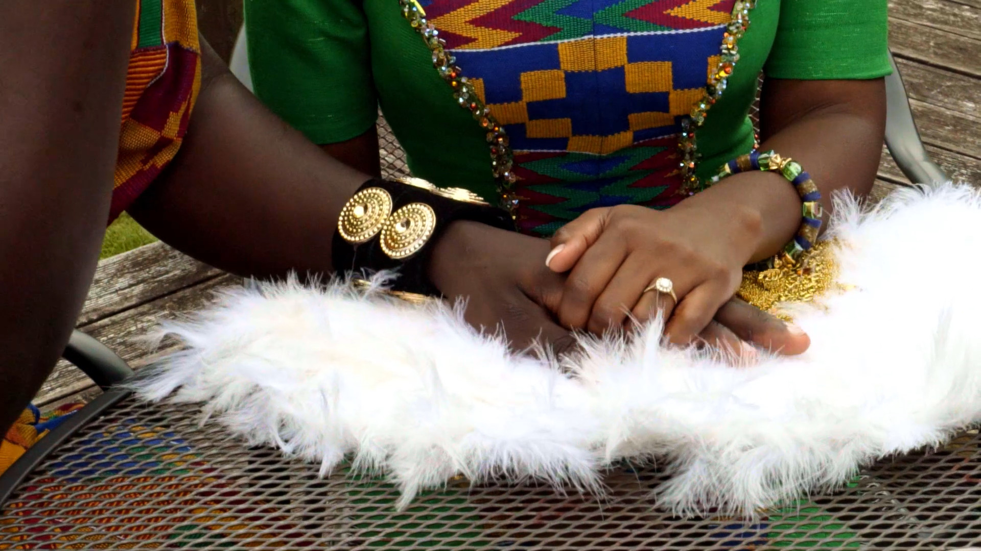 Still from traditional ghanaian engagement video shot by Movement Films