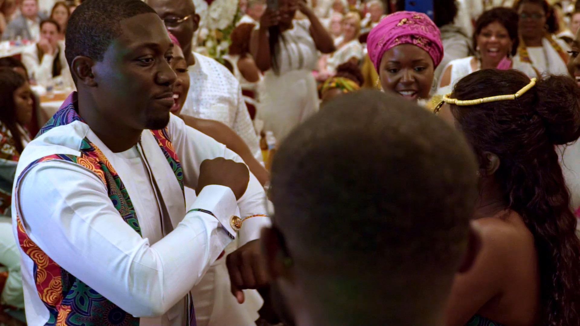 Still from traditional Ghanaian Engagement ceremony video shot by Movement Films