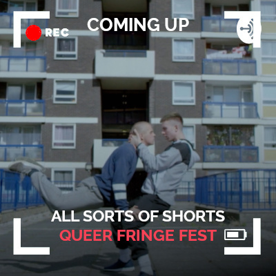 Thumbnail for All Sorts of Shorts episode 2 Queer Fringe Festival with still from Crashing Waves short film