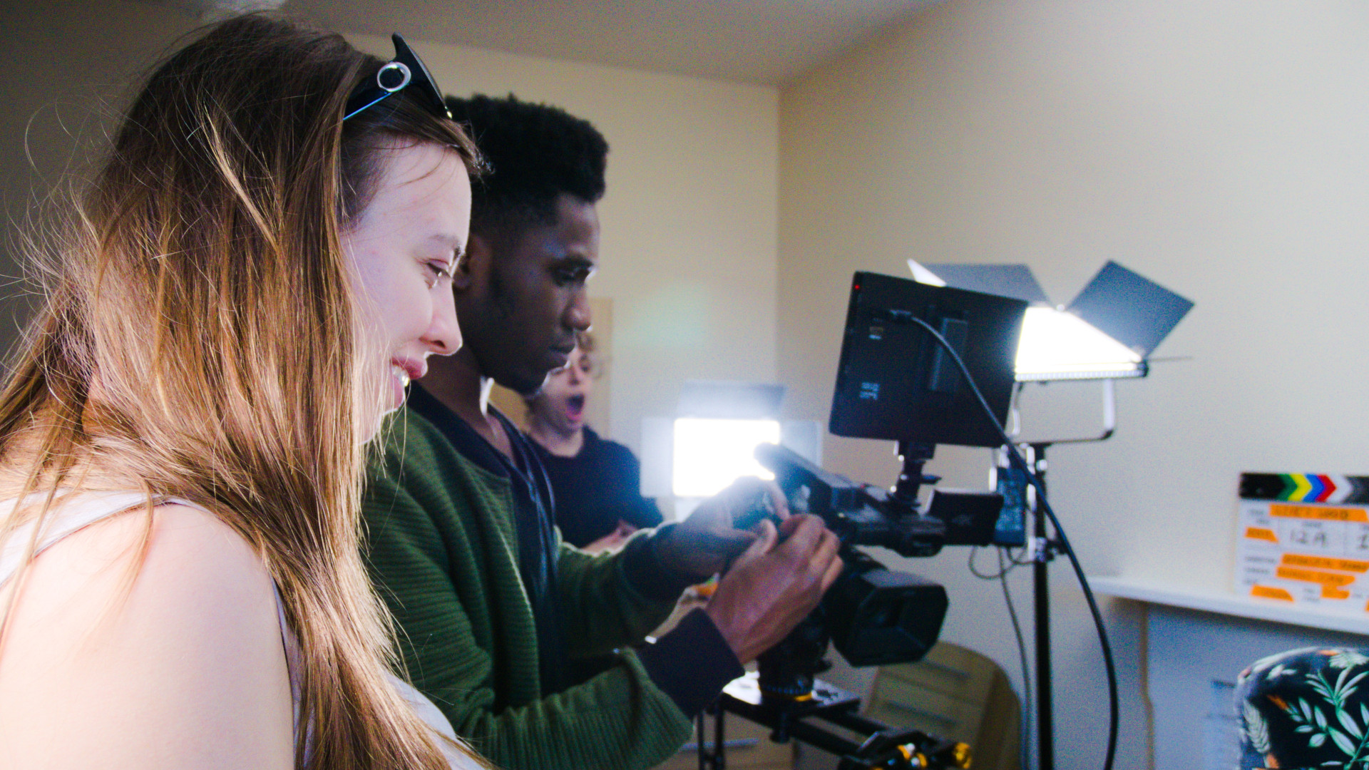Behind the scenes photo of Movement Films narrative music video Life Now