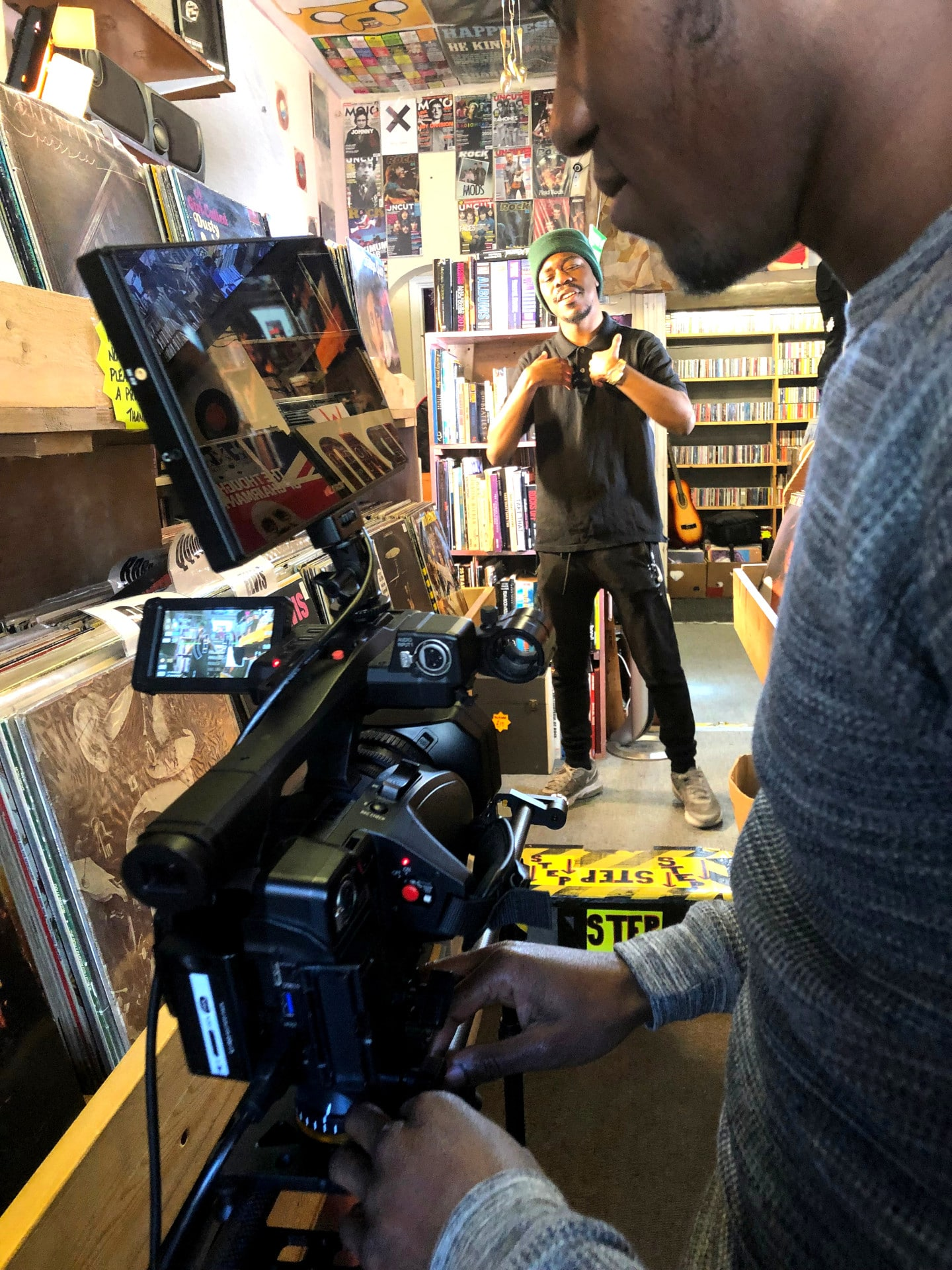 Behind the scenes image from Movement Films narrative music video Jepeto Knockz: Life Now