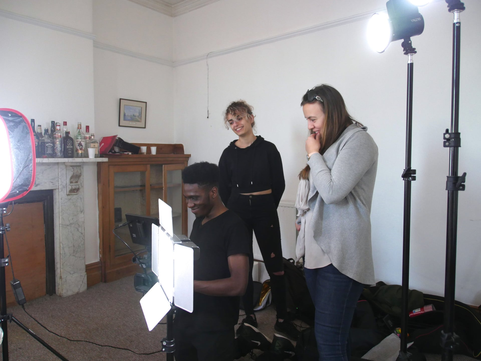Behind the scenes image from Movement Films narrative music video Life Now