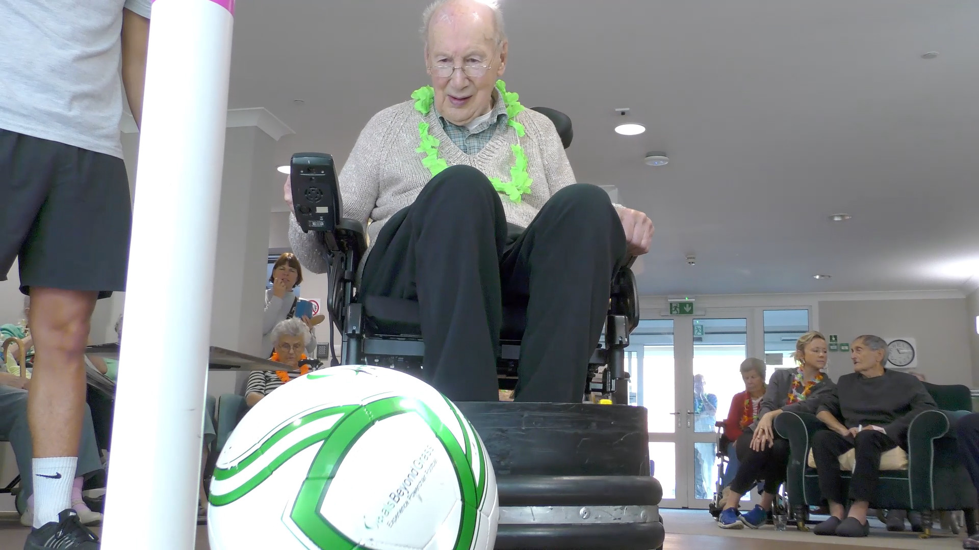 Still from Movement Films case study videos for Goals Beyond Grass Powerchair Football