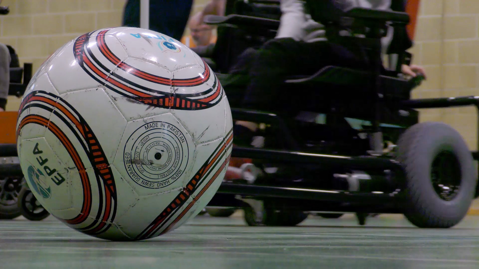 Still from Movement Films case study videos for GBG Powerchair Football