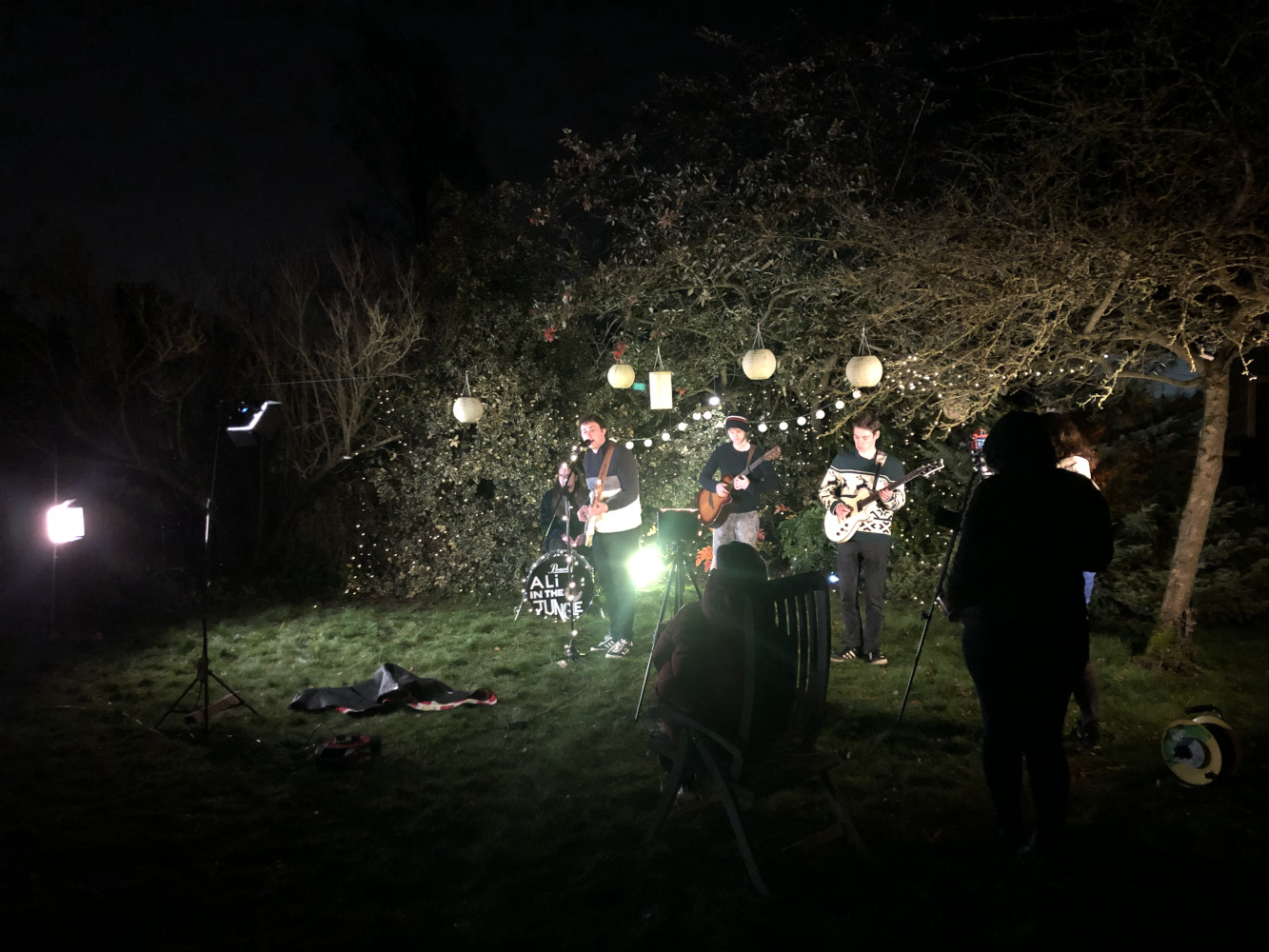 Behind the scenes image from Movement Films Music Video for Ali in the Jungle IDEKU