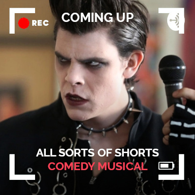 All Sorts of Shorts Comedy Musical Coming Up thumbnail with short film Emo the Musical