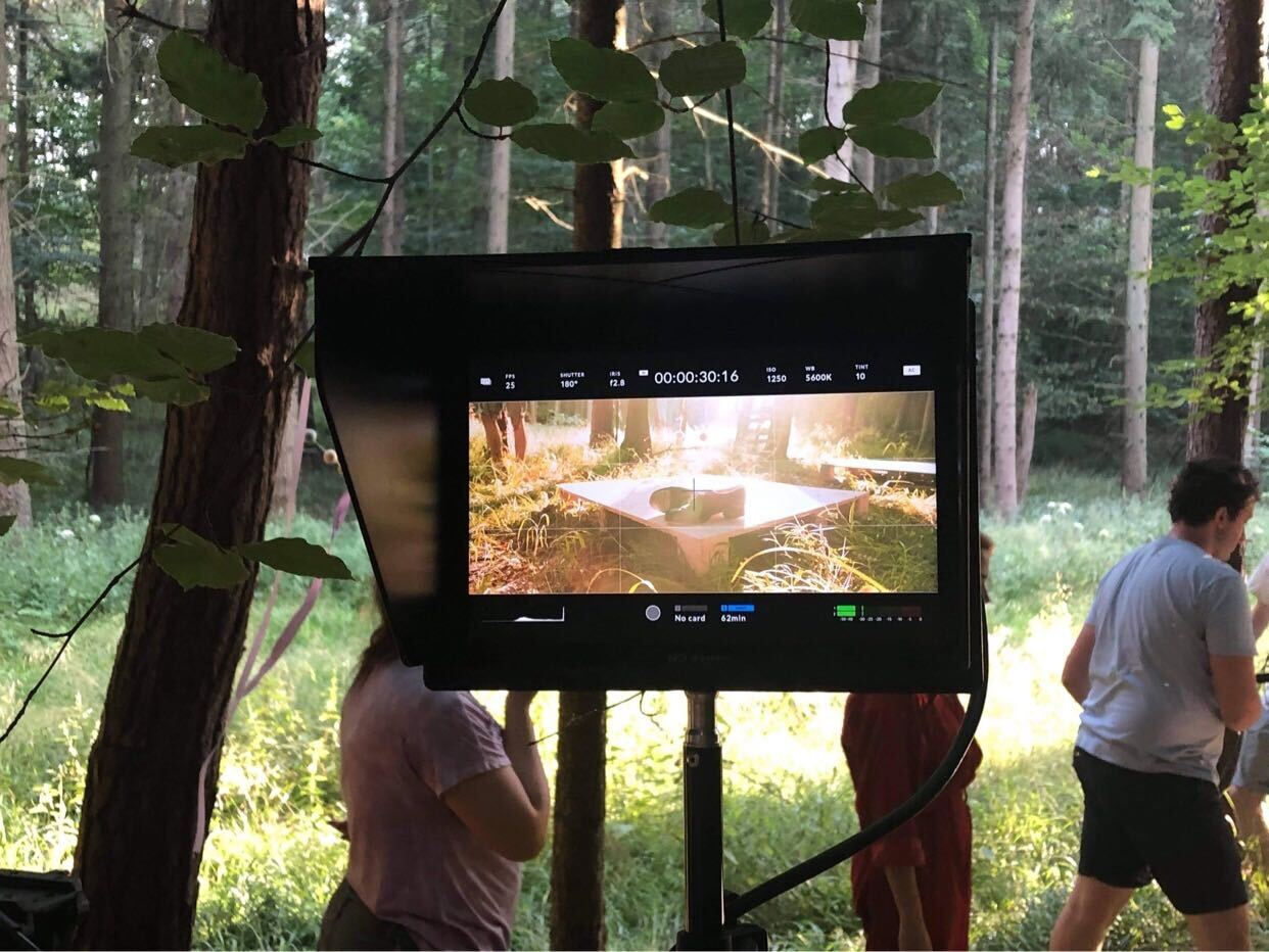 Behind the scenes image from short film Robyn