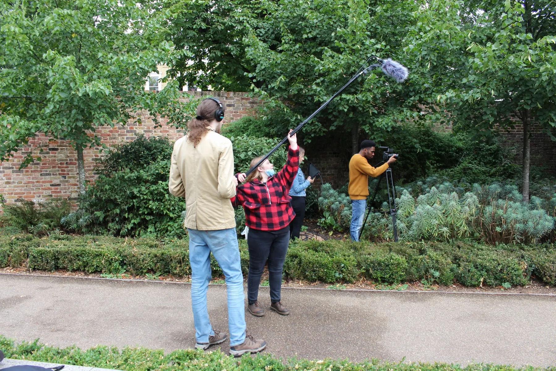 Behind the scenes from short film Fraudsters