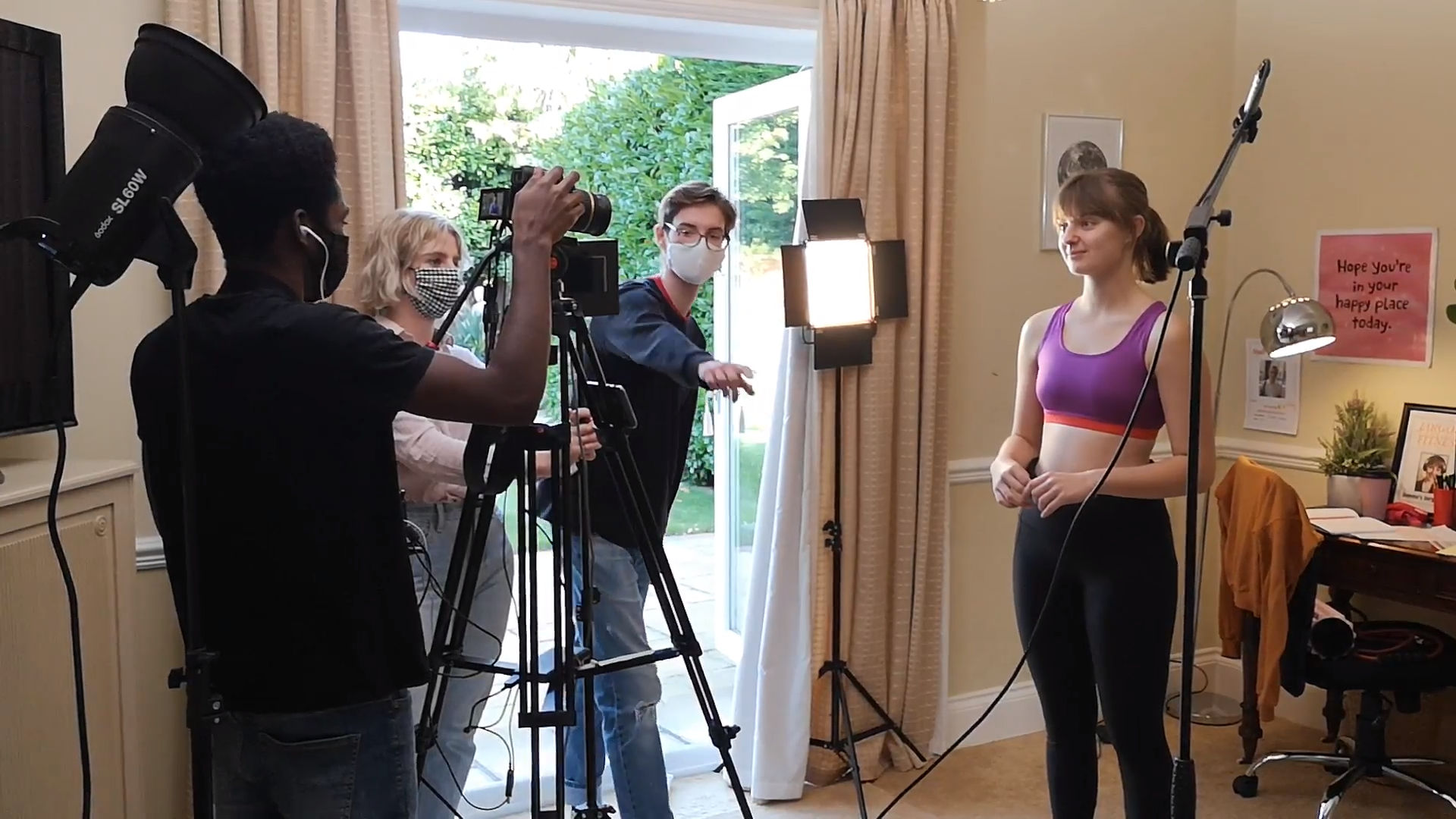 Behind the scenes photo from comedy short film Jargon Fitness