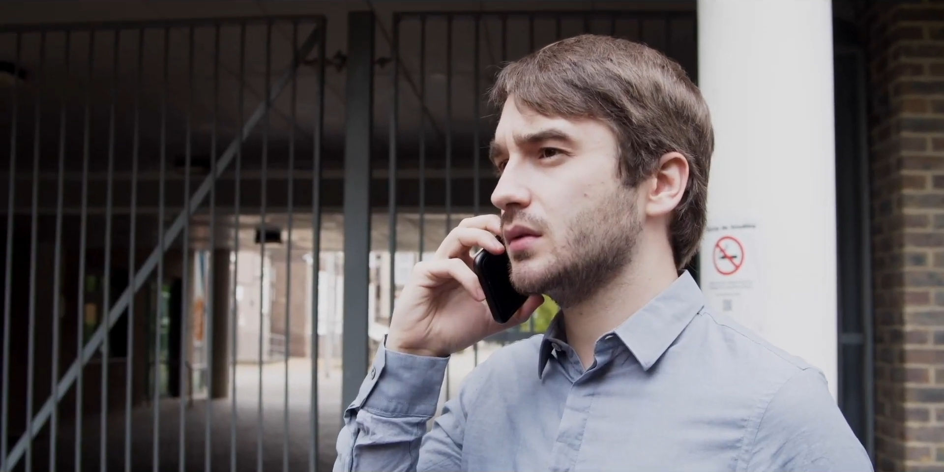 Still from short film Fraudsters featuring Alex Ayliffe, produced by Fresh Media Productions