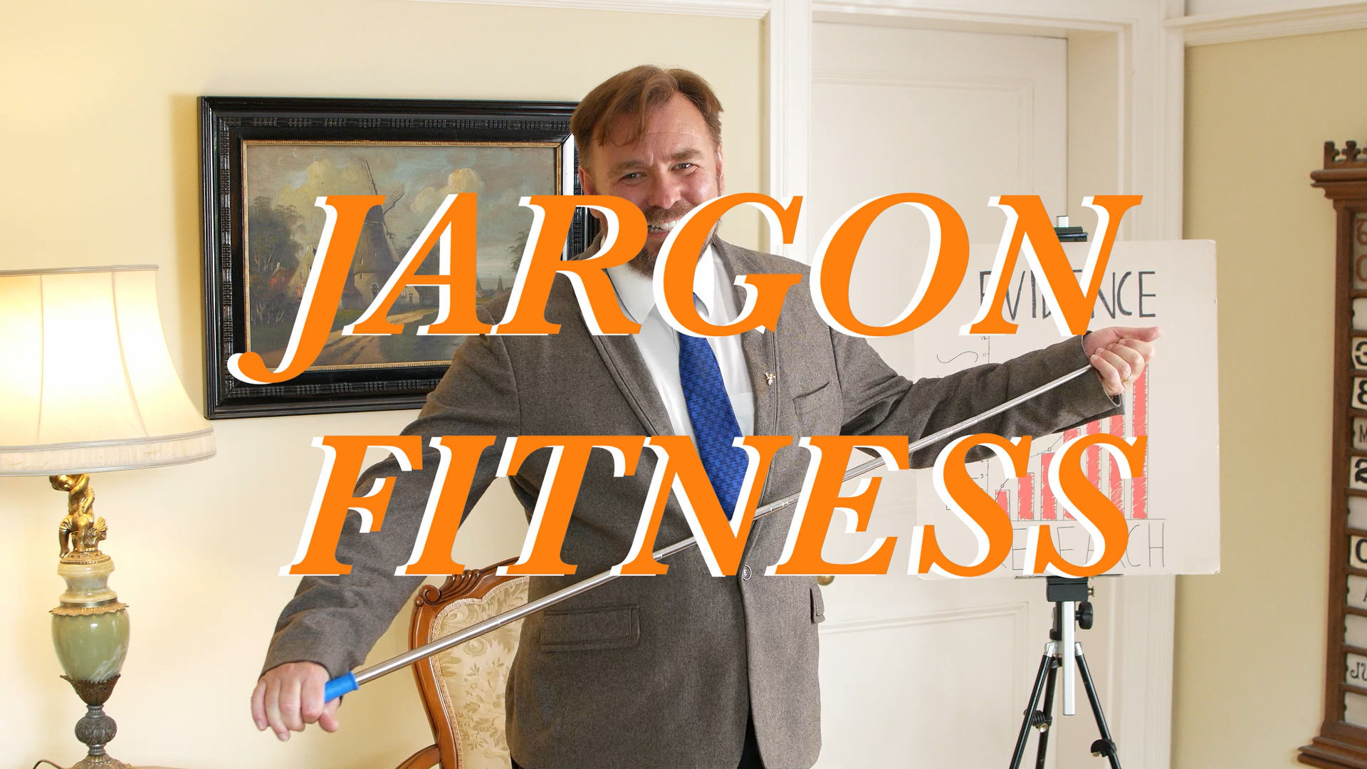 Still from short film Jargon Fitness, produced by Movement Films and Cardboard Moon Pictures showing actor Richard Stride, entry to My Rode Reel 2020