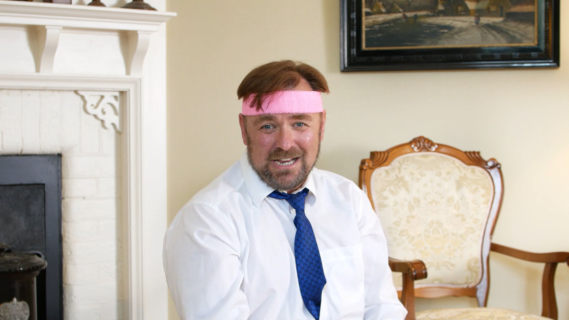 Still from short film Jargon Fitness, produced by Movement Films and Cardboard Moon Pictures showing actor Richard Stride