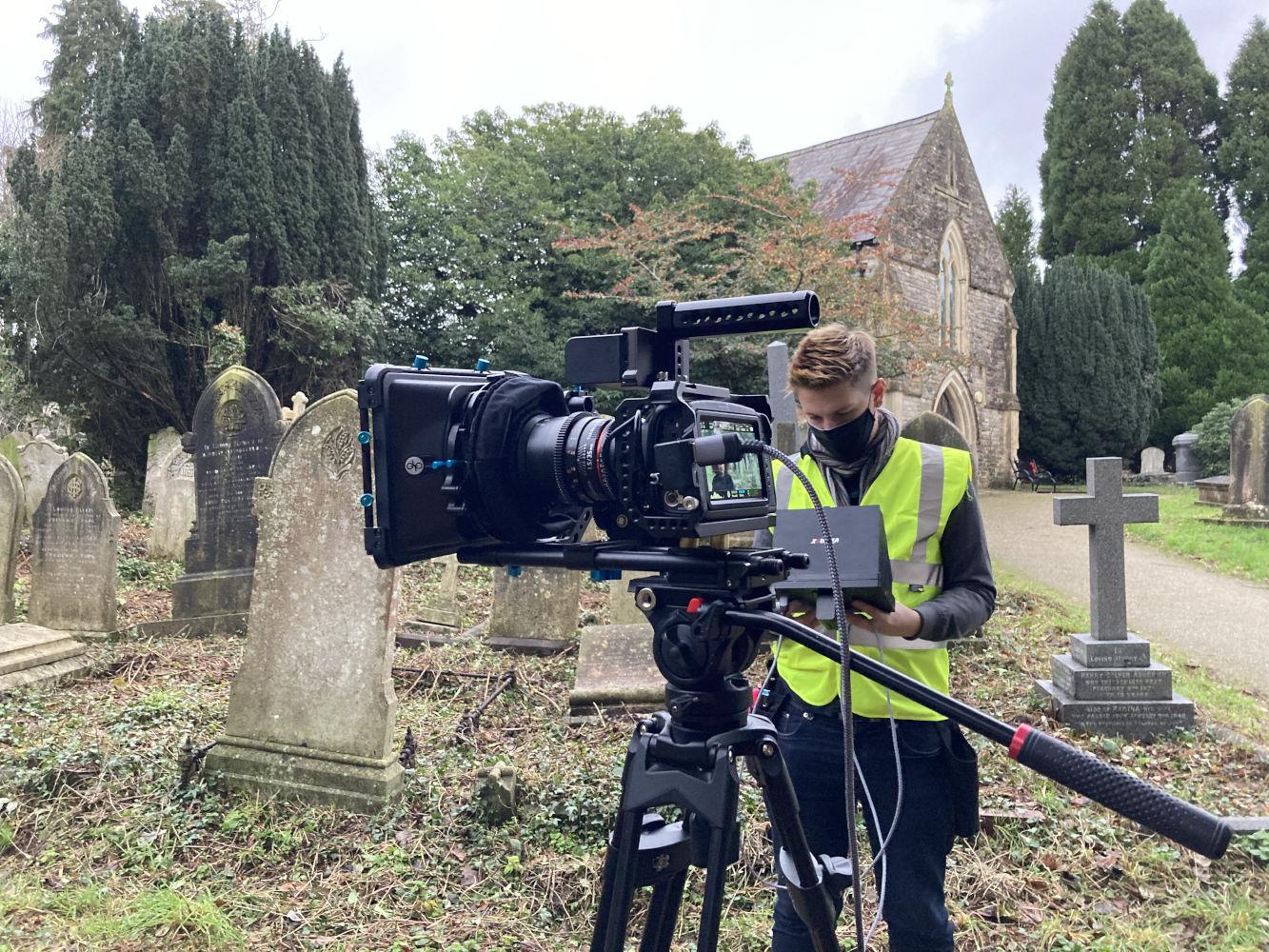 Behind the scenes image from Liam Calvert's Voyager short film of Blackmagic Pocket Cinema Camera 4K