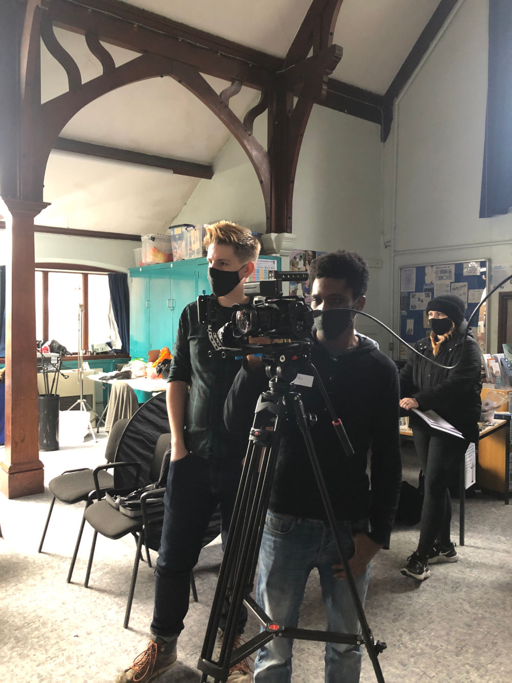 Behind the scenes image from Liam Calvert's Voyager short film