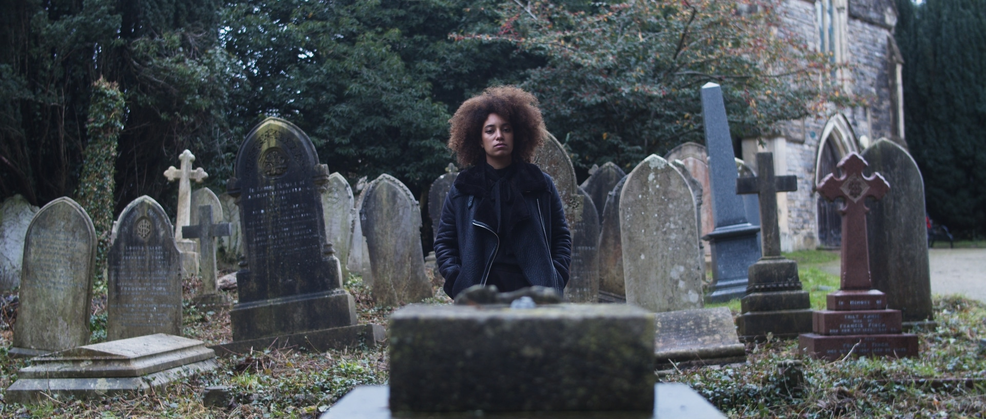 Voyager Still with temp grade, a Liam Calvert short film starring Sophie Delora Jones and shot by Matthias Djan DoP