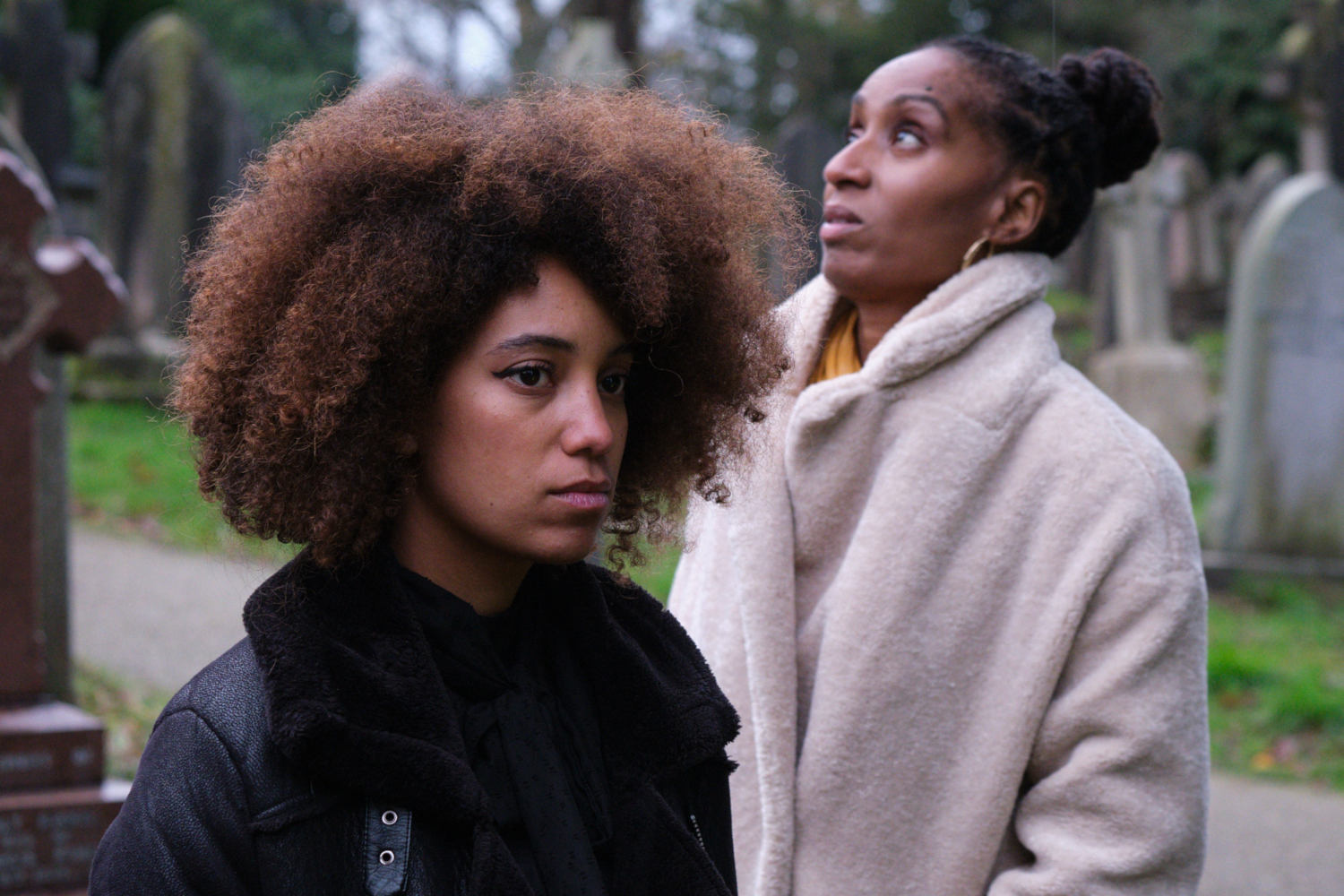 Production Still on the set of Voyager short film. Photo's by Matt Towers. Directed by Liam Calvert. Starring Sophie Delora Jones and Fredericka Charles