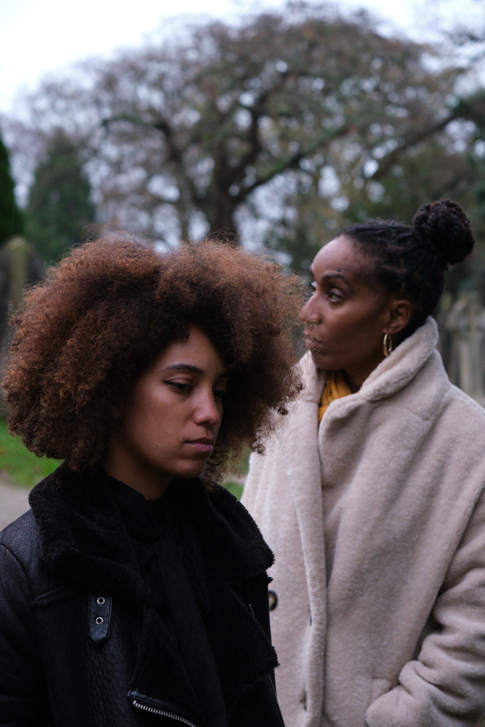 Production Still on the set of Voyager. Photo's by Matt Towers. Directed by Liam Calvert. Starring Sophie Delora Jones and Fredericka Charles
