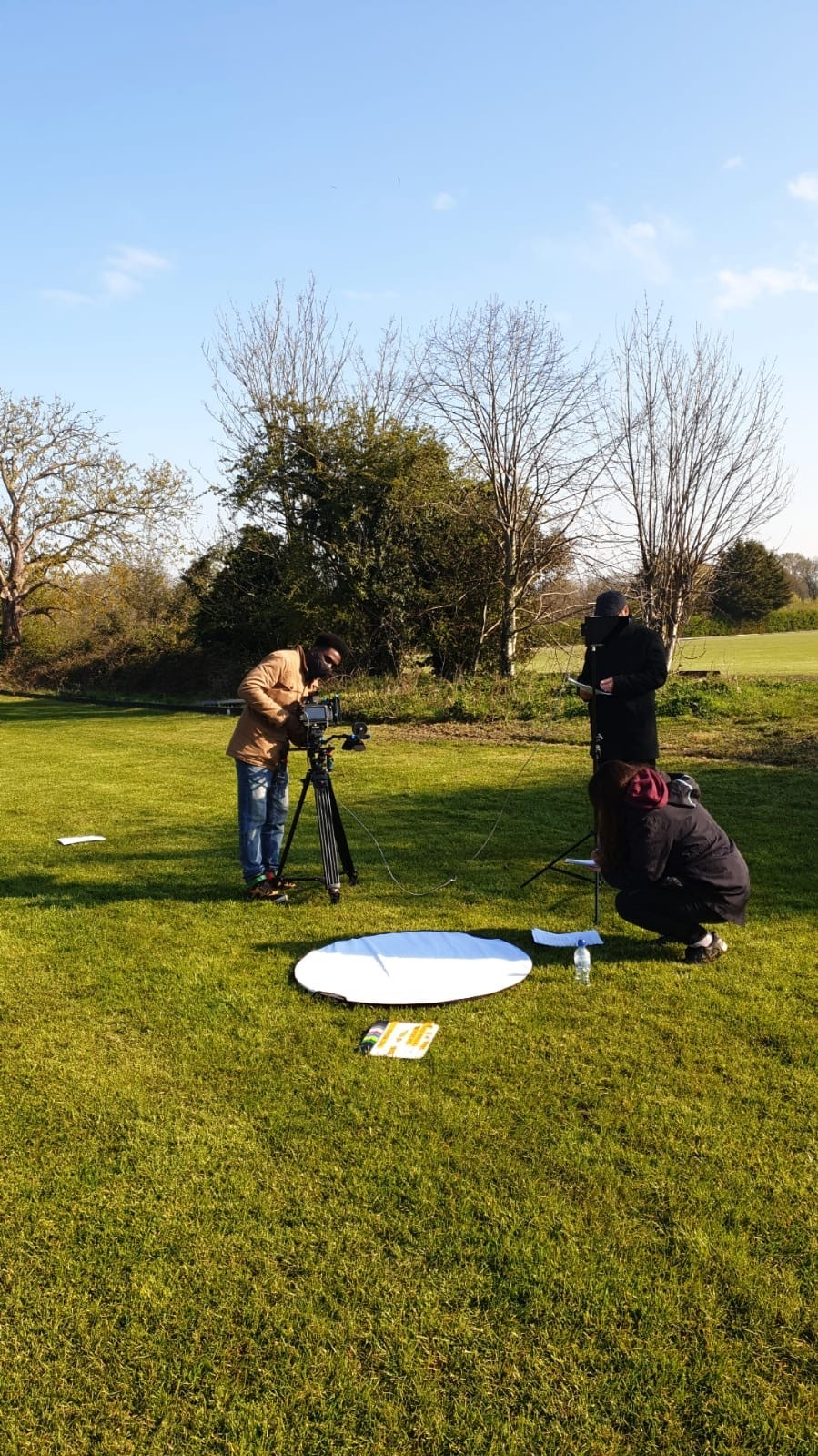 Behind the scenes photo from short film The Mound