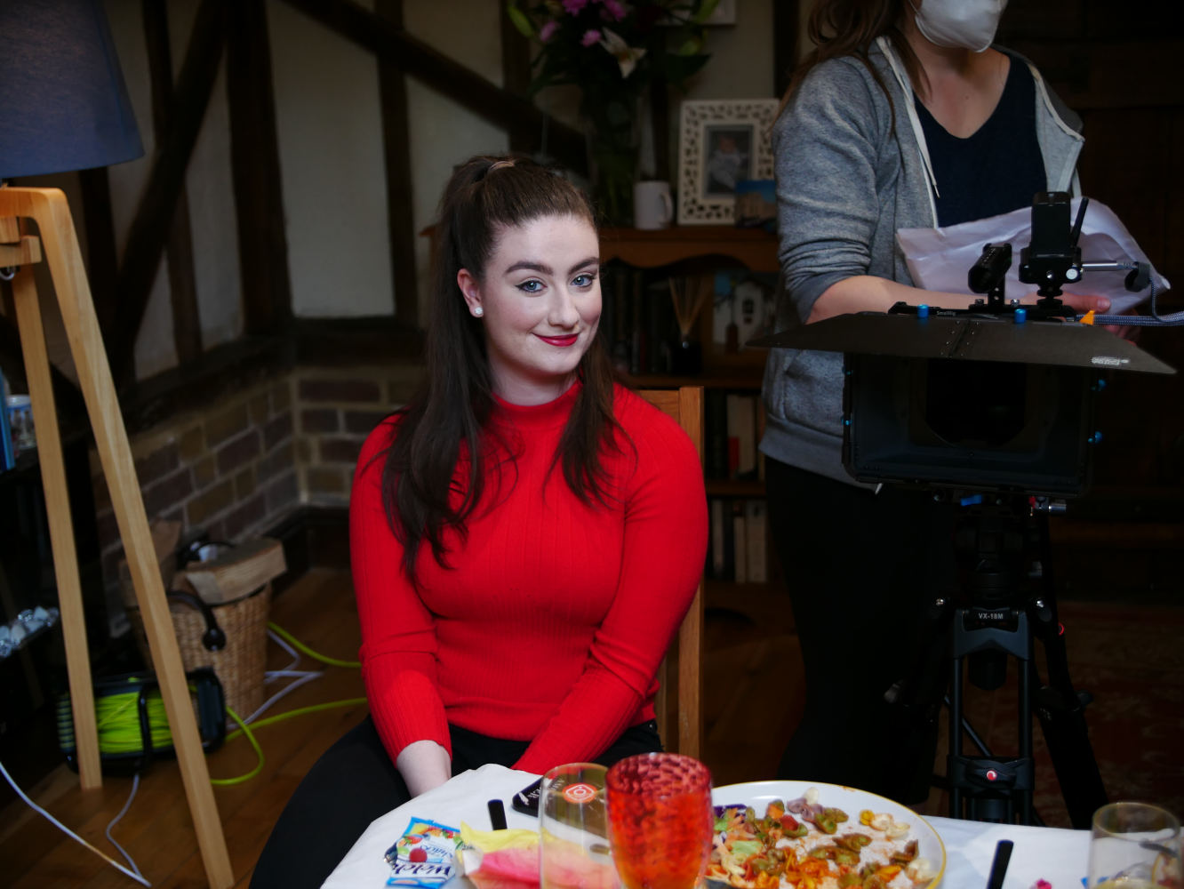 Behind the scenes photo from comedy short film Keep It in the Family of Amber Doig-Throne