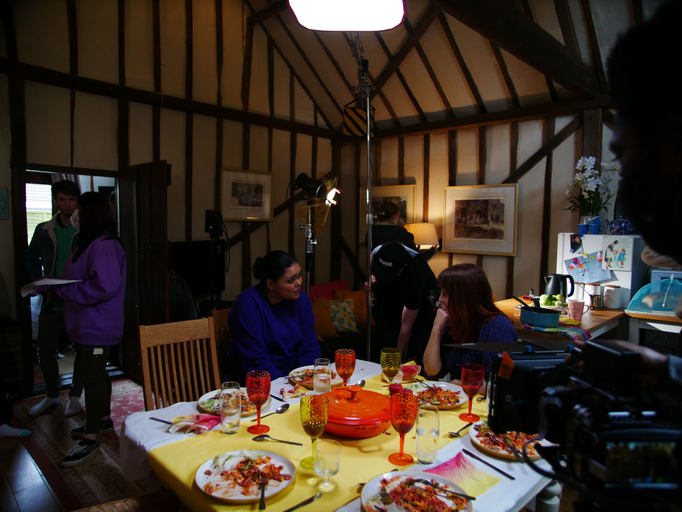 Behind the scenes photo from comedy short film Keep It in the Family