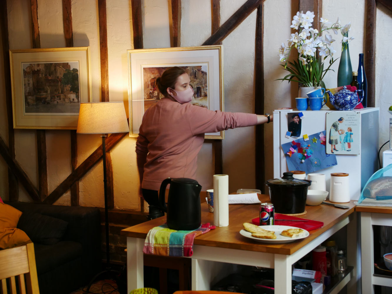 Behind the scenes photo from comedy short film Keep It in the Family of Production Designer Alice Pontin