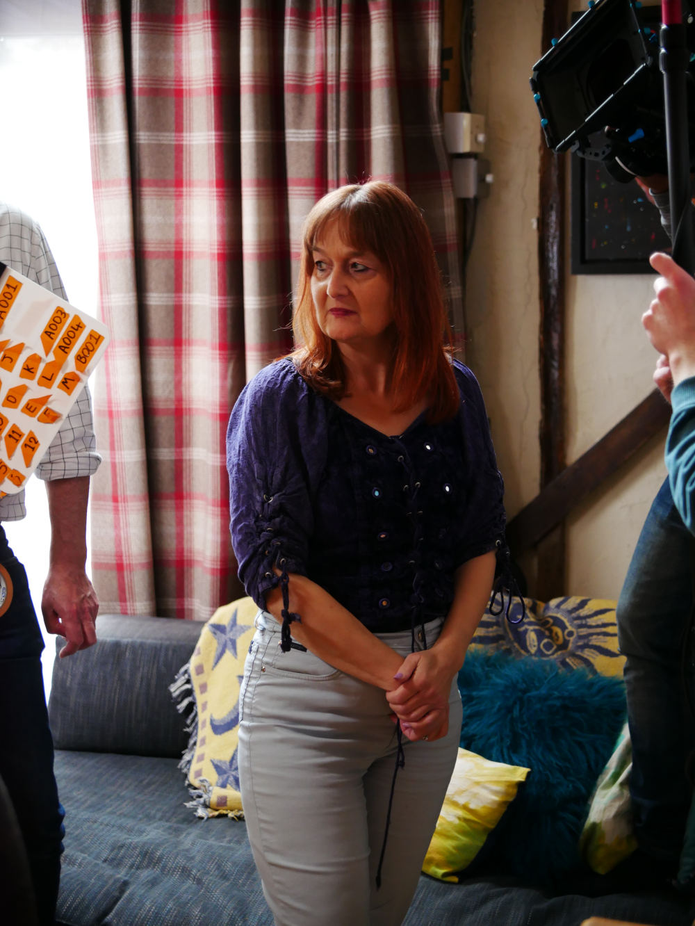 Behind the scenes photo from comedy short film Keep It in the Family of actress Sarah-Ann Hassall