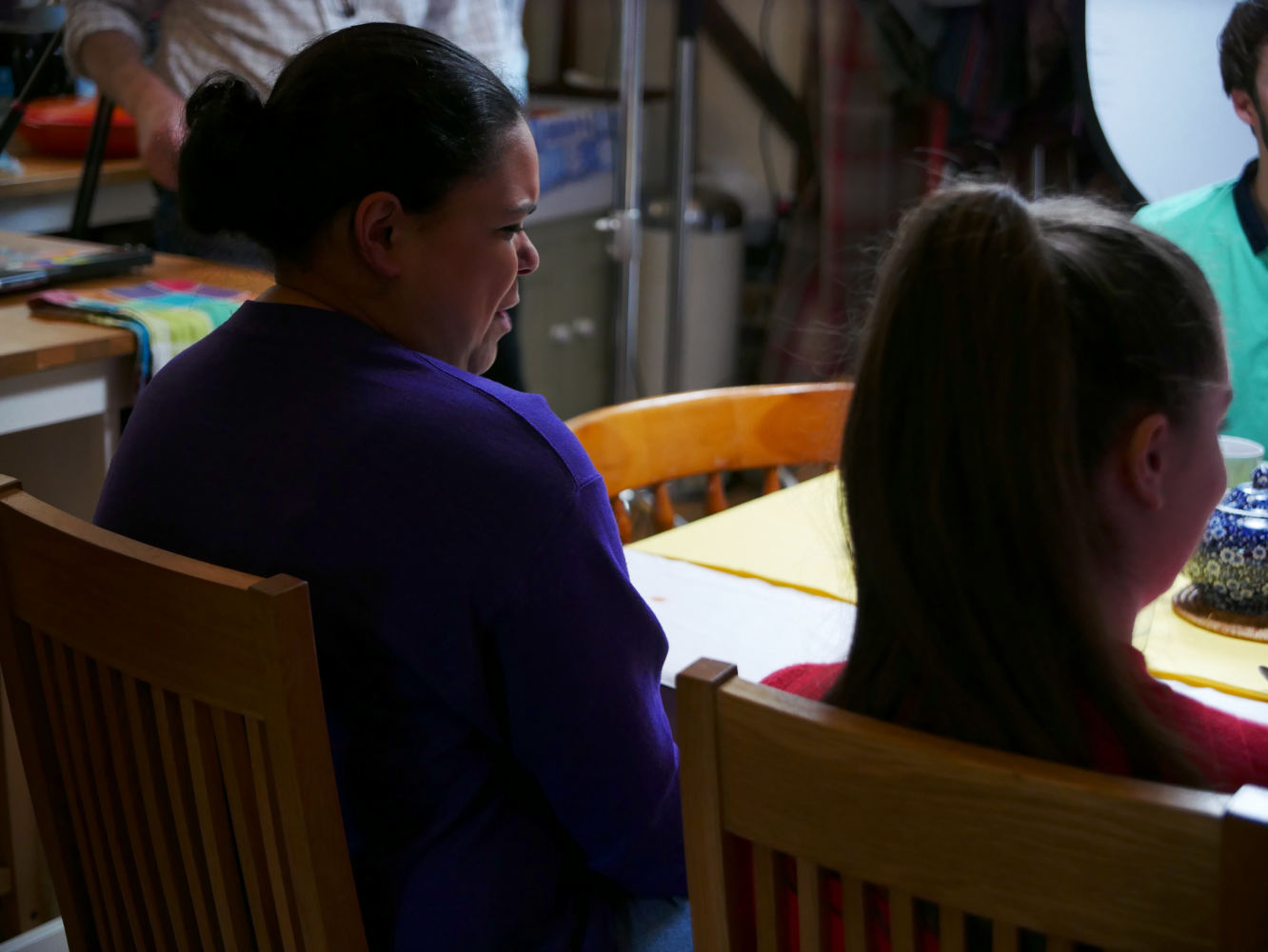 Behind the scenes photo from comedy short film Keep It in the Family of actress Leona Sowe