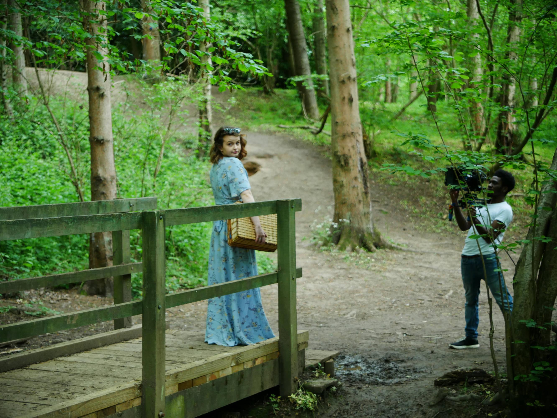 Behind the scenes photo of DP Matthias Djan shooting with the Blackmagic Pocket Cinema Camera 4K