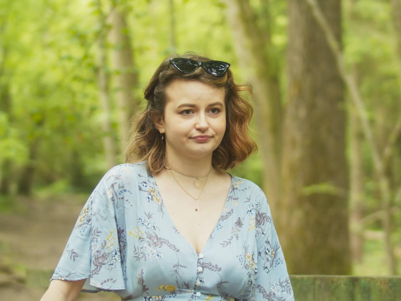 Still from short film shot in forest