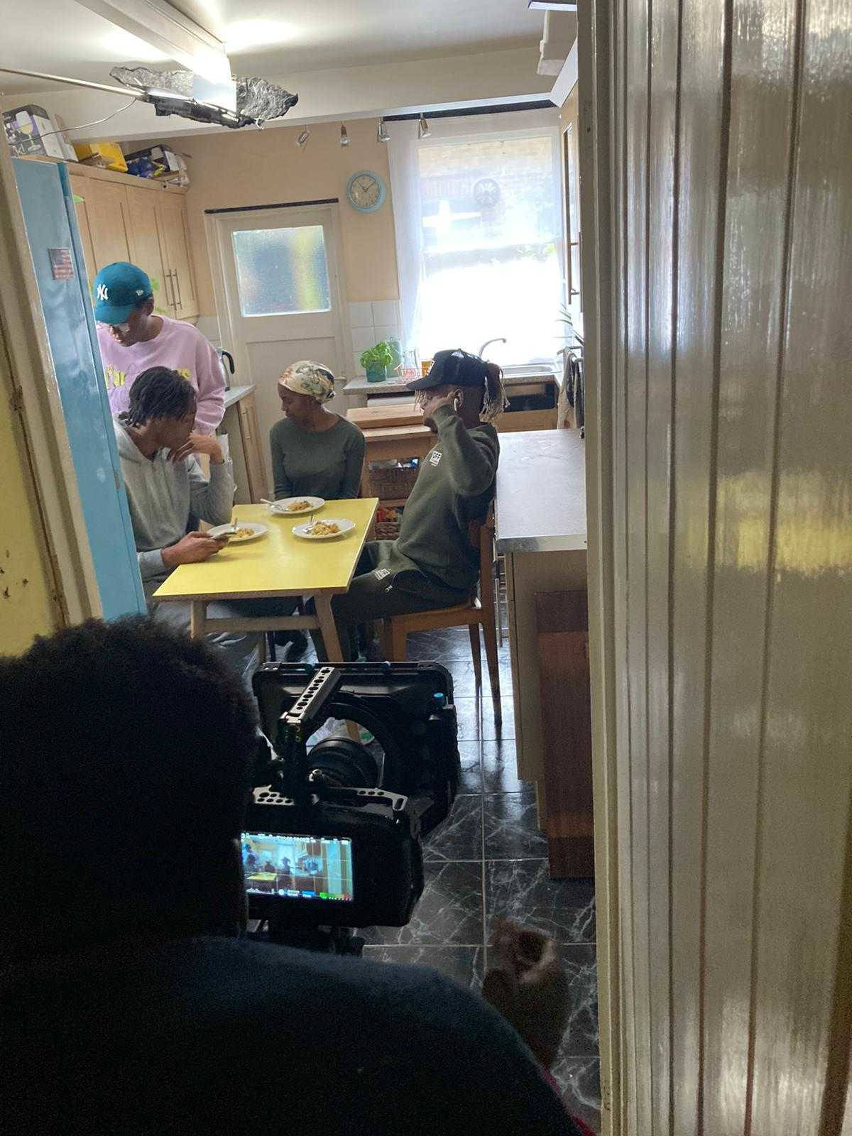 Behind the scenes photo from Brother's Keeper short film