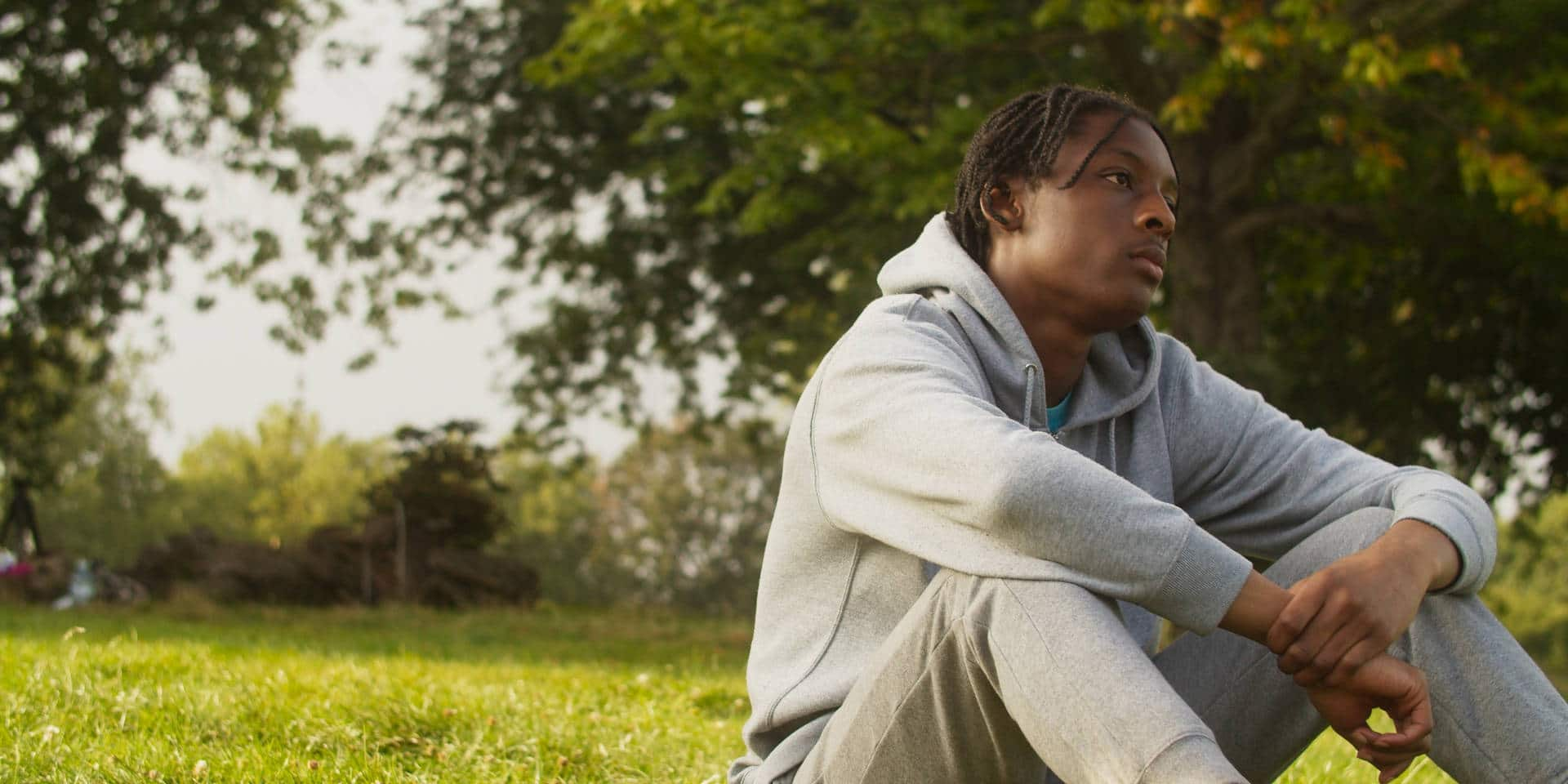Still from short film Brother's Keeper starring Louis Nicholson