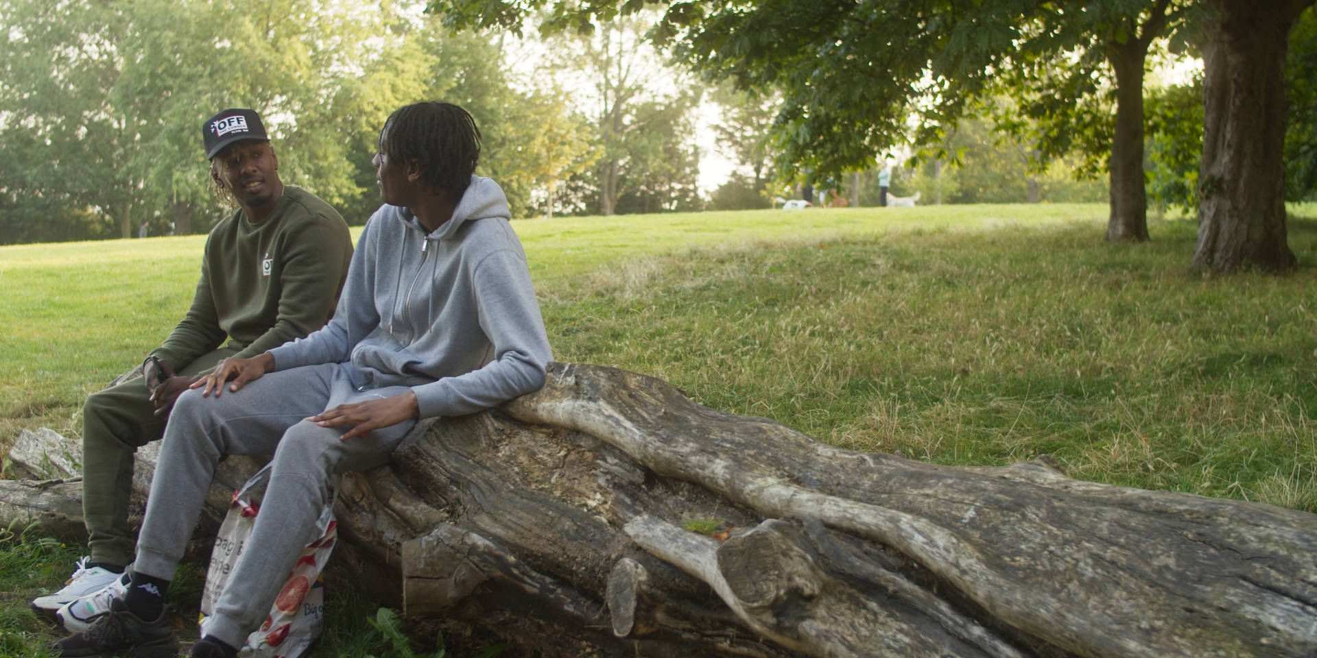Still from short film Brother's Keeper, directed by Tobore Dafiaga featuring Louis Nicholson and Andre Burton-March